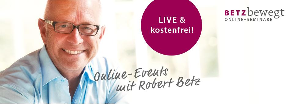Thema: Perfekt sein zu wollen ist Selbstfolter | Live & online am 30.10.: Dein Abendseminar mit Robert Betz
